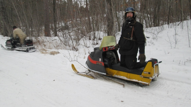 Clearing brush Ski Doo style