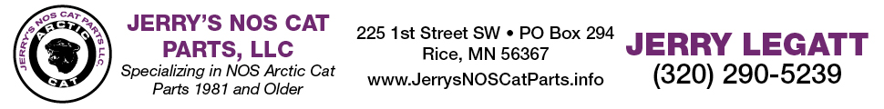 Jerry's NOS Cat Parts